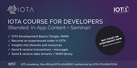 IOTA Course for Developers // Seminar + Learning App + Premium Support tickets