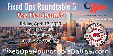 Ted Ings and Tire Profiles present: Fixed Ops Roundtable 5: The Tire Summit tickets