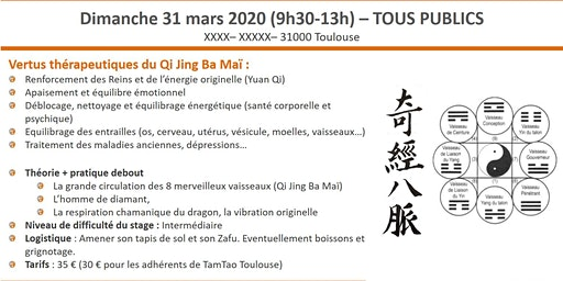Stage de Qi Gong traditionnel : la circulation des 8 merveilleux vaisseaux