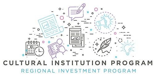 Grant Application Workshop: Cultural Institution/Regional Investment Grant