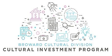 Grant Application Workshop: Cultural Investment Program (CINV) tickets