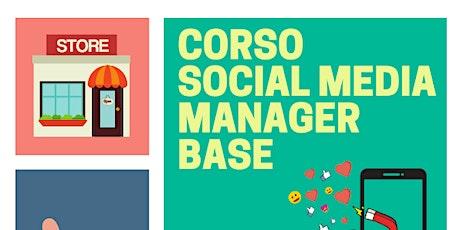 Corso Social Media Manager Base - Presentazione GRATUITA biglietti