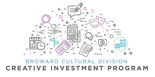 Grant Application Workshop: Creative Investment Program (CIP)