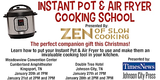 Instant Pot Cooking School- Johnson City Jan 27th at 7PM