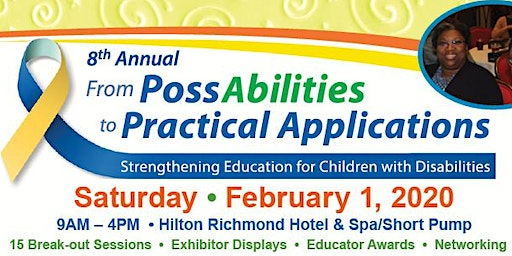 Sponsorship for 8th Annual From PossAbilities to Practical Applications Education Conference