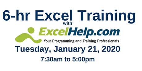 Full-Day Excel Training tickets