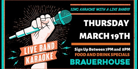 LIVE Band Karaoke at Brauer House tickets