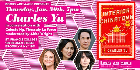 Charles Yu w/ Celeste Ng, Thessaly La Force, and Abbe Wright tickets