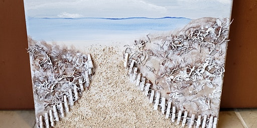 Winter Beach Mixed Media Painting Workshop