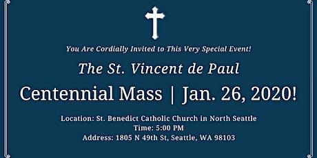 St. Vincent de Paul Centennial Mass tickets