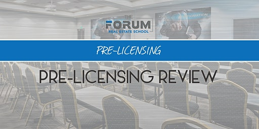 Pre-Licensing Review