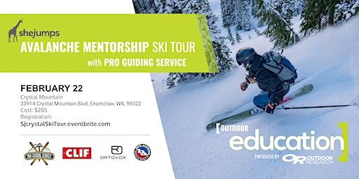 WA SheJumps Avalanche Mentorship Ski Tour with Pro Guiding Service