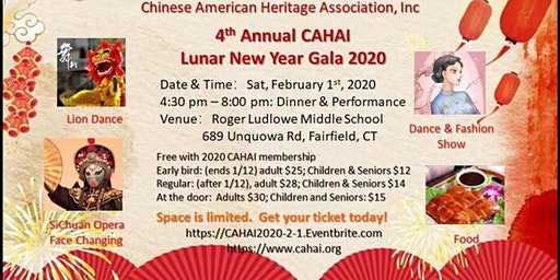 4th Annual CAHAI Lunar New Year Gala 2020