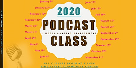 Podcast & Media Content Devo Class  tickets