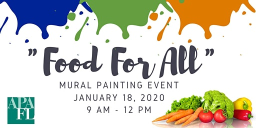 """""""Food For All"""" Mural Painting Volunteer Networking Event"""