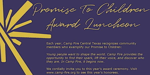 2020 Promise to Children Award Luncheon