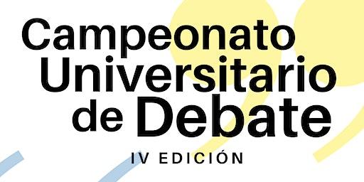 VI Campeonato Universitario de Debate