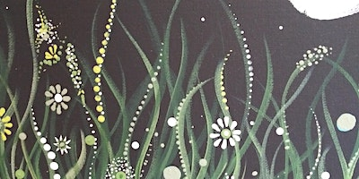 Moon Light in the Garden Done in Greens and White