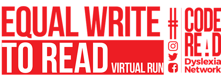 Equal Write to Read Virtual Run - Code Read Dyslexia Network image