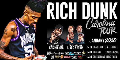 Rich Dunk Official Carolina Tour Greensboro