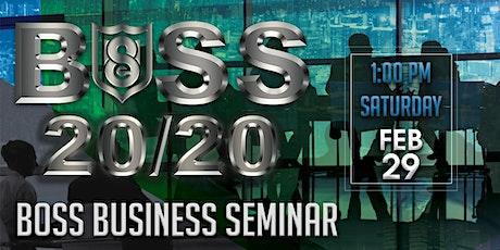 BOSS 2020 Business Seminar tickets