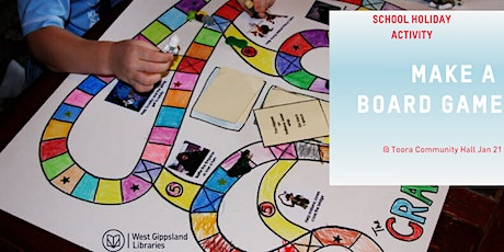School holiday Make a board game tickets