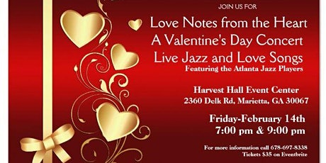 Love Notes From the Heart/Live Jazz & Love Songs Concert tickets