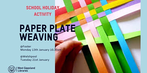 School holiday Paper plate weaving shapes
