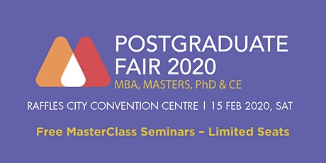 Postgraduate Masterclass Fair 2020 tickets