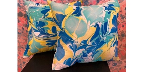 Learn to Marble a Silk Throw Pillow (04-26-2020 starts at 3:00 PM) tickets