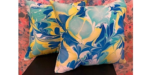 Learn to Marble a Silk Throw Pillow (06-06-2020 starts at 1:30 PM)