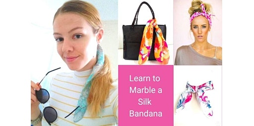 Learn to Marble a Silk Bandana  (06-14-2020 starts at 1:30 PM)