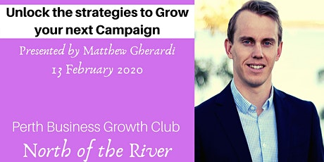 Unlock the Strategies to Grow your next Campaign tickets