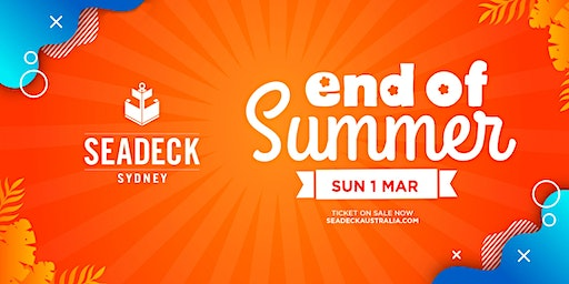 Seadeck End of Summer Cruise - SUN 1 March