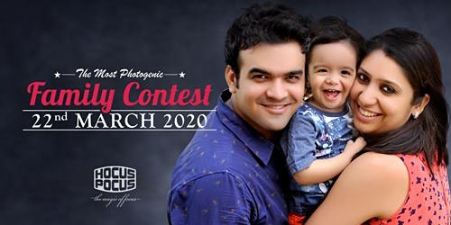 THE MOST PHOTOGENIC 'FAMILY CONTEST' 22 MARCH 2020 - REGISTER NOW!