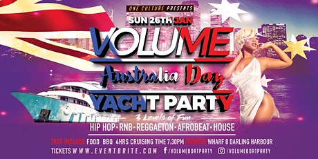 Volume Australia Day Yacht Party Vol19 tickets