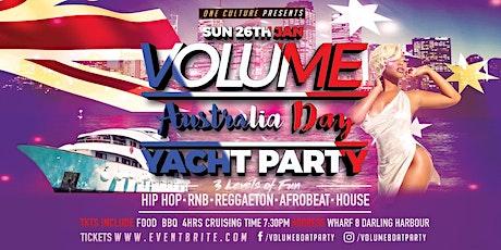 Volume Australia Day Yacht Party Vol19 entradas