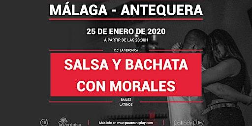 Bailes latinos, Salsa y bachata, con Morales en Pause&Play La Verónica
