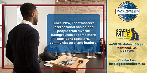 Improve your Communication and Leadership Skills - Golden Mile Toastmasters