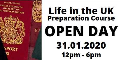 Life in the UK  - Open Day/Free taster session
