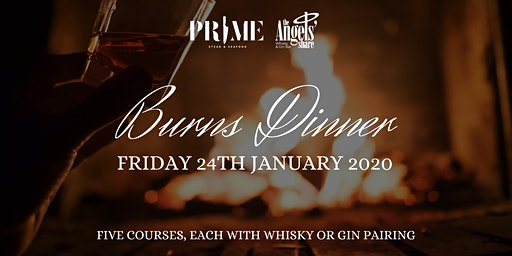 BURNS DINNER - 5 Courses paired with Whisky or Gin