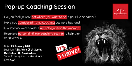 Pop Up Coaching : find out what coaching can do fo tickets