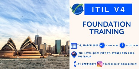 ITIL | V4 | Exam | Course | Training | Sydney | March | 2020 tickets