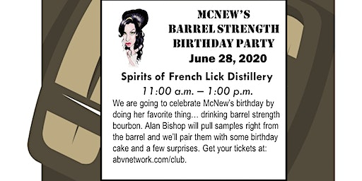 McNew's Barrel Strength Birthday Party at Spirits of French Lick Distillery
