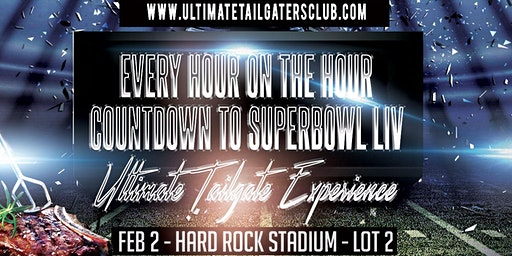 """Tailgate Superbowl 54 """"Every hour on the hour"""" countdown"""