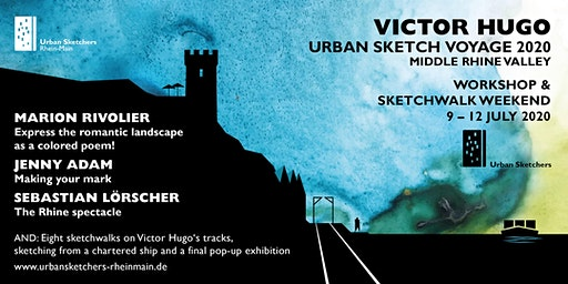 Victor Hugo Urban Sketch Voyage 2.0 Middle Rhine Valley
