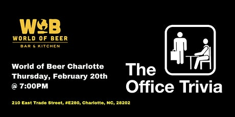 The Office Trivia at World of Beer Charlotte tickets