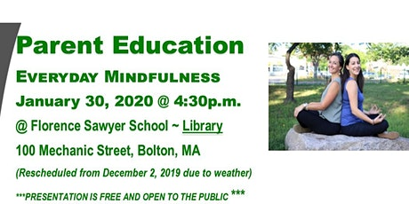 Parent Education:  Everyday Mindfulness for Parents and Kids tickets