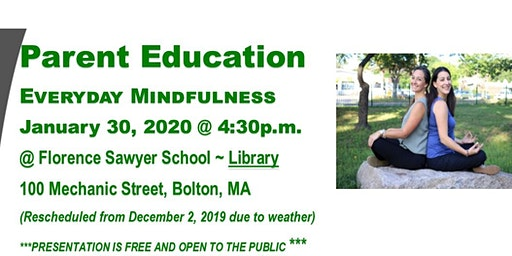 Parent Education:  Everyday Mindfulness for Parents and Kids