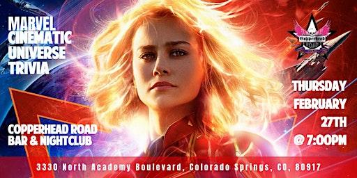 Marvel Cinematic Universe Trivia at Copperhead Road Bar & Nightclub